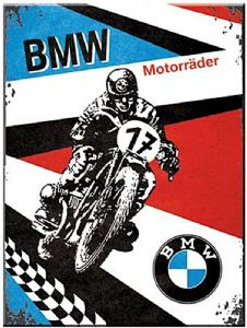 BMW Motorrader steel fridge magnet   (na)